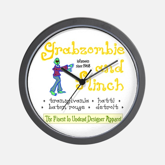 Funny Grabazombie Zombie Fashion Wall Clock