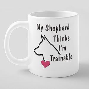 ShephardPinkHeartMug 20 oz Ceramic Mega Mug