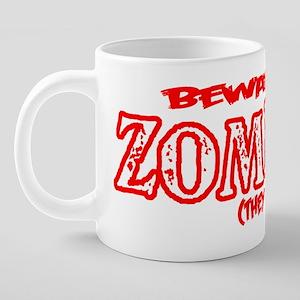 beware of zombies for dark 20 oz Ceramic Mega Mug