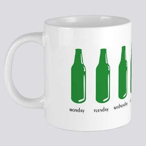 green bottles standing 20 oz Ceramic Mega Mug