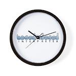 Interpreter Blue Wall Clock