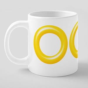 3 Sonic Rings 20 oz Ceramic Mega Mug