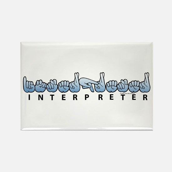 Interpreter Blue Rectangle Magnet