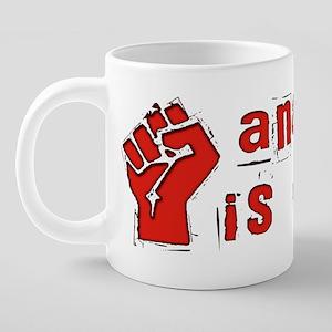 Anarchy Order Fist 20 oz Ceramic Mega Mug