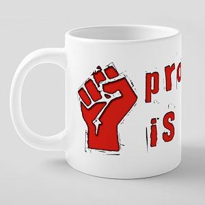 Property Theft Fist 20 oz Ceramic Mega Mug