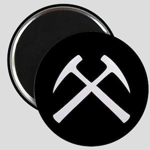 Crossed Rock Hammers Magnet