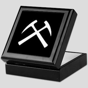 Crossed Rock Hammers Keepsake Box