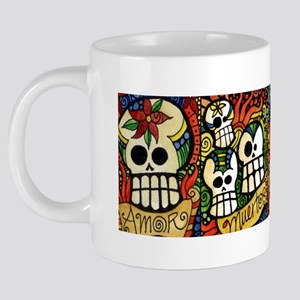 Sugar Skulls Day of the Dea 20 oz Ceramic Mega Mug