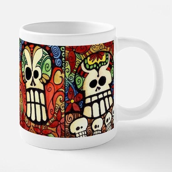 Sugar Skulls Day of the Dea 20 oz Ceramic Mega Mug