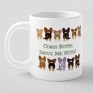 Both Corgi Butts Drinkware  20 oz Ceramic Mega Mug