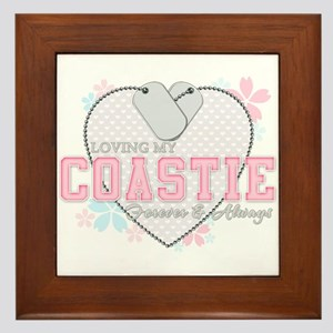 Loving My Coastie Forever and Framed Tile
