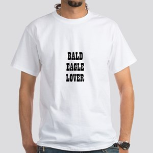 BALD EAGLE LOVER White T-Shirt