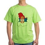 Map Of Serbia Green T-Shirt