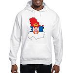 Map Of Serbia Hooded Sweatshirt