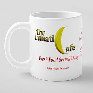 LunaticCafeCoffee 20 oz Ceramic Mega Mug