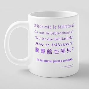 22 Most Important Question  20 oz Ceramic Mega Mug
