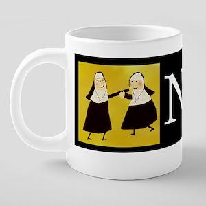 Funny Nun Greeting Cards 20 oz Ceramic Mega Mug