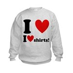I Love I Heart Shirts Kids Sweatshirt