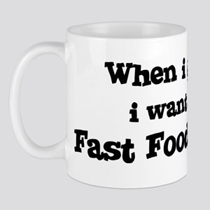 Be A Fast Food Manager Mug