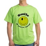 Smile If You're Horny Green T-Shirt