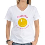 Smile If You're Horny Women's V-Neck T-Shirt
