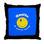 Smile If You're Horny Throw Pillow