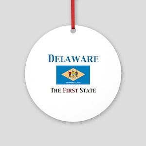 Delaware 1st State Ornament (Round)