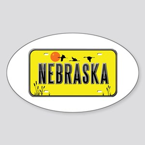 Nebraska Oval Sticker