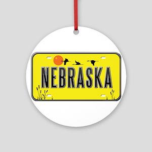 Nebraska Ornament (Round)