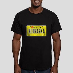Nebraska Men's Fitted T-Shirt (dark)