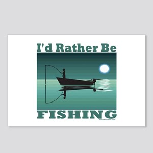 I'd Rather Be Fishing Postcards (Package of 8)