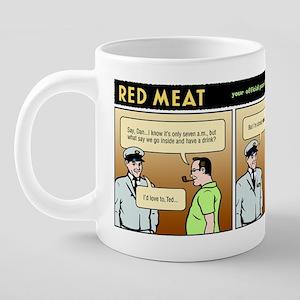 NDrunk@7am 20 oz Ceramic Mega Mug