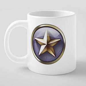 Wrap around with logo star  20 oz Ceramic Mega Mug