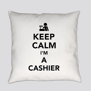 Keep calm I'm a cashier Everyday Pillow