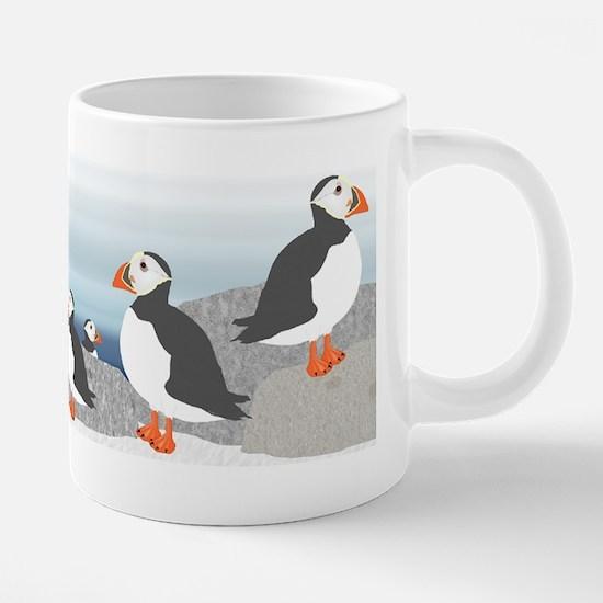 Puffin Teapot 20 oz Ceramic Mega Mug