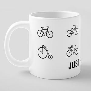 Just Pedal 20 oz Ceramic Mega Mug