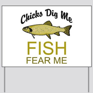 Fish Fear Me Yard Sign