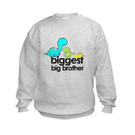 biggest big brother t-shirt dinosaur Kids Sweatshi