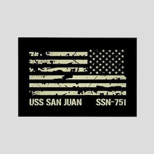 USS San Juan Rectangle Magnet