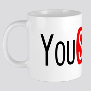 You Suck - YouTube 20 oz Ceramic Mega Mug
