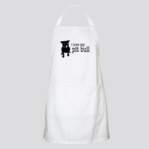 Love My Pit Bull (Natural Ears) BBQ Apron