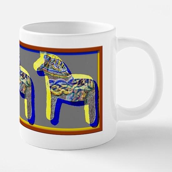 dala horse 20 oz Ceramic Mega Mug