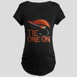 Fly Tying Maternity Dark T-Shirt
