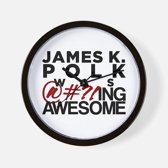 James K. Polk Wall Clock