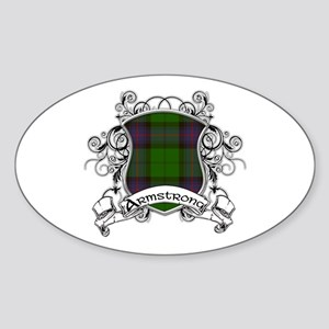 Armstrong Tartan Shield Sticker (Oval)
