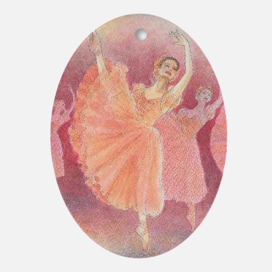Waltz of the Flowers Ballet Oval Ornament