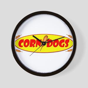 Corn Dogs Wall Clock
