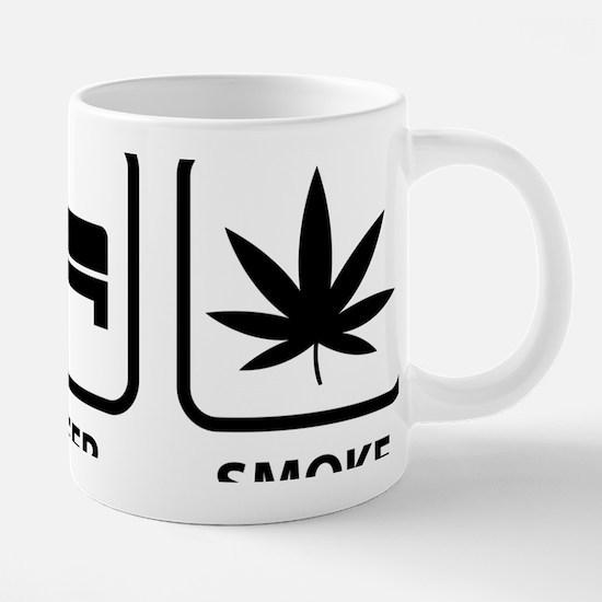 eatSleepSmokeWeed1A.png 20 oz Ceramic Mega Mug