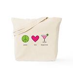 peace. love. happy hour Tote Bag