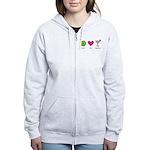 peace. love. happy hour Women's Zip Hoodie